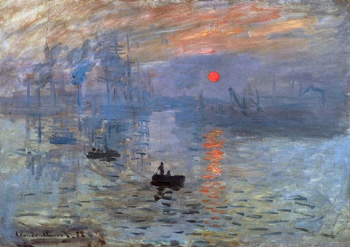Monet, Claude: Impression, Sunrise (Soleil Levant). Fine Art Print.  (003216)